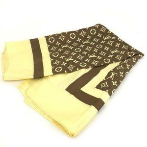 Authentic Louis Vuitton Monogram Silk Scarf New